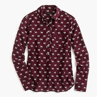 J.Crew Popover shirt in Terrier print