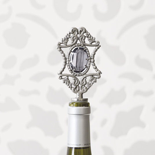 Jewel Wine Stoppers - Charcoal
