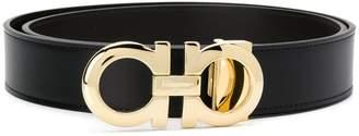 Salvatore Ferragamo logo plaque belt