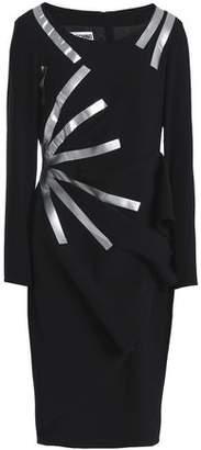 Moschino Metallic-Coated Crepe Dress