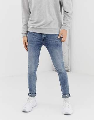 Asos Design DESIGN super skinny jeans in overdye acid wash