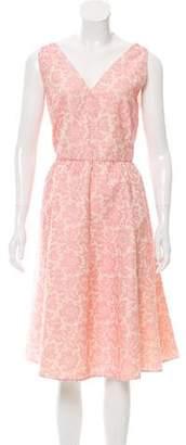 Valentino Sleeveless A-Line Midi Dress w/ Tags
