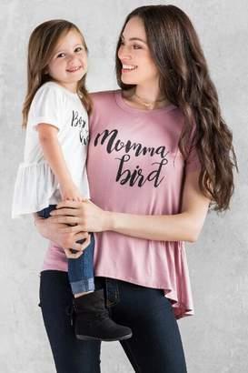 francesca's Mama Bird Graphic Tee - Mauve