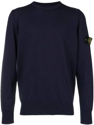 Stone Island long-sleeve fitted sweater