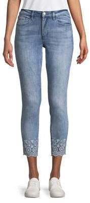 Buffalo David Bitton Embroidered Crop Jeans