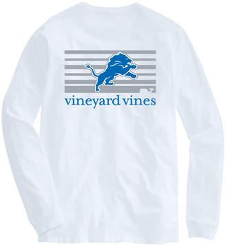 Vineyard Vines Adult Lions Long-Sleeve Block Stripe T-Shirt