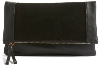 Sole Society Jemma Suede Clutch - Black $69.95 thestylecure.com