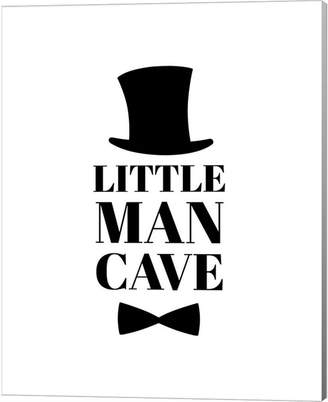 Metaverse Little Man Cave Top Hat And Bow Tie - White By Color Me Happy Canvas Art
