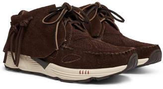 Visvim FBT Prime Runner Suede and Mesh Sneakers - Dark brown
