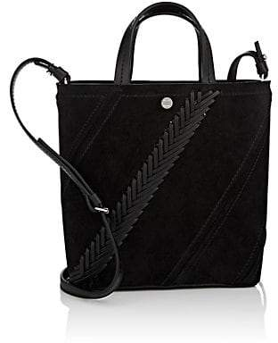 Proenza Schouler Women's Hex Small Suede Tote Bag - Black