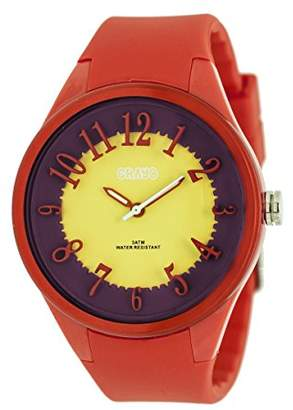 Crayo Women's 'Burst' Quartz Plastic and Silicone Casual Watch