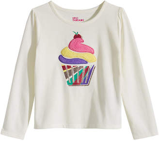 Epic Threads Little Girls Cupcake-Print T-Shirt