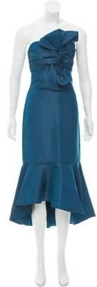 Johanna Ortiz Silk Strapless Gown w/ Tags