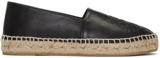 Kenzo Black Leather Tiger Espadrilles $240 thestylecure.com