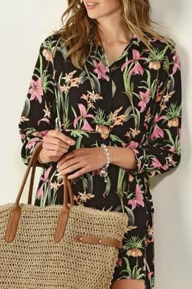 Paige Charlie Floral Print Dress