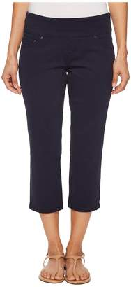 Jag Jeans Petite Petite Peri Straight Pull-On Twill Crop in Nautical Navy Women's Jeans