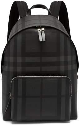 Burberry - London Check Pvc Backpack - Mens - Black Grey