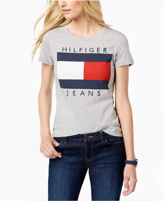 31bb8fb261 Tommy Hilfiger Gray Women s Tees And Tshirts - ShopStyle