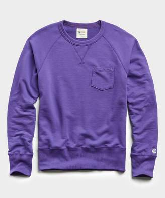 Todd Snyder + Champion Terry Pocket Sweatshirt in Royal Purple