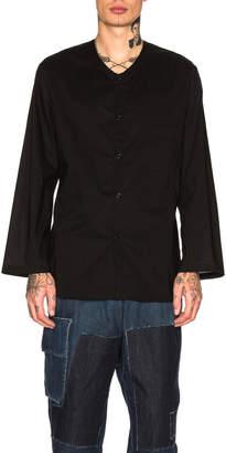 Yohji Yamamoto Collarless Shirt
