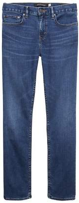Banana Republic Athletic Tapered Rapid Movement Denim Medium Wash Jean