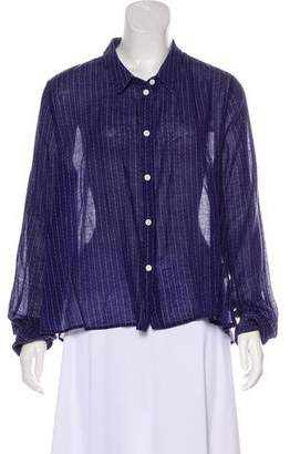 Band Of Outsiders Lightweight Button-Up Top