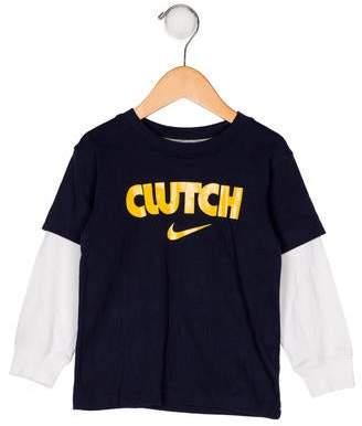Nike Boys' Printed Long Sleeve Shirt