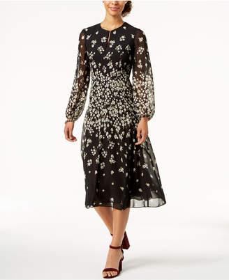 Tommy Hilfiger Floral-Print Chiffon Midi Dress