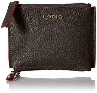 Lodis Women's Kate Frances Double Zip Pouch Key/Coin Case Purse