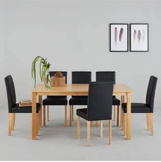 a475a03172 Primo 150 cm Dining Table + 6 Faux Leather Chairs