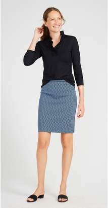 J.Mclaughlin Halle Reversible Skirt in Signature J Twill