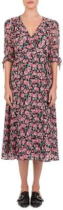 The Kooples Candy Flowers Printed Wrap Dress