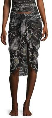 Fuzzi Swim Printed Wrap Skirt