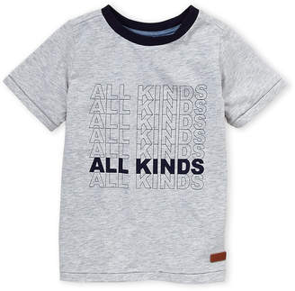7 For All Mankind Boys 4-7) Heather Grey All Kinds Tee
