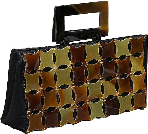 Global Elements Cut Buffalo Horn Handbag