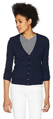 Three Dots Women's Heritage Knit Short Tight Cardigan