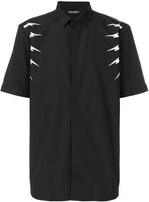 Neil Barrett lightning bolt short sleeve shirt