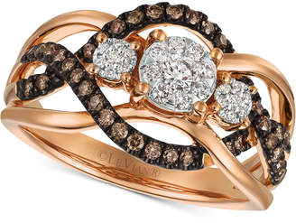 LeVian Le Vian Chocolatier Diamond Ring (3/8 ct. t.w.) in 14k Rose Gold (Also Available in Two-Tone White & Yellow Gold or White Gold)