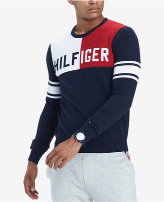 Tommy Hilfiger Men Big & Tall Bedford Colorblocked Sweater