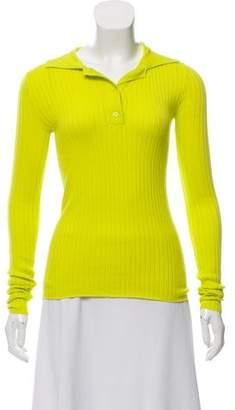 Organic by John Patrick Long Sleeve Rib Knit Sweater