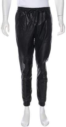 J Brand Dyed Leather Joggers