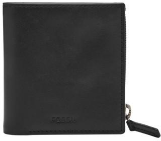 Fossil Philip Coin Pocket Bifold Wallet Black