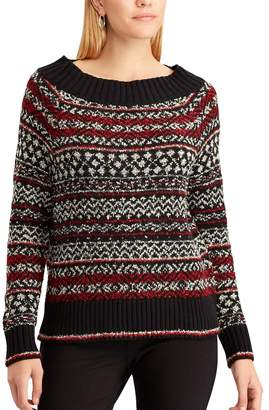 Chaps Women's Striped Scoopneck Sweater