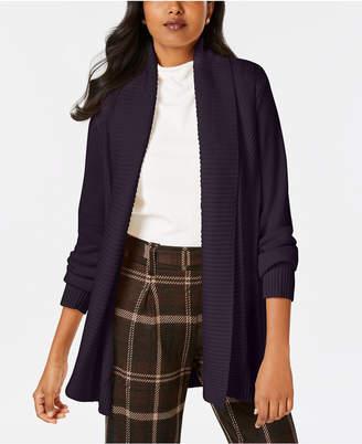 Charter Club Shawl-Collar Long-Sleeve Cardigan