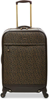 """Calvin Klein Mulberry 24"""" Softside Spinner Suitcase"""