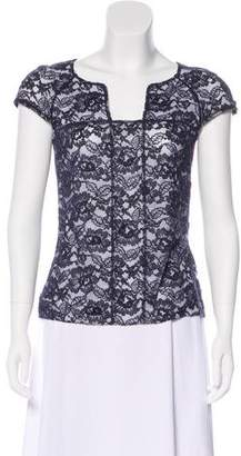 Chanel Lace Cap Sleeve Top