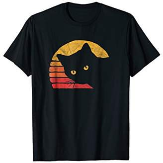 Vintage Eighties Style Cat T-Shirt - Retro Distressed Design