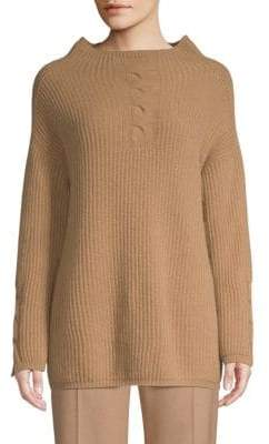 Max Mara Tenore Rib-Knit Virgin Wool& Cashmere Sweater