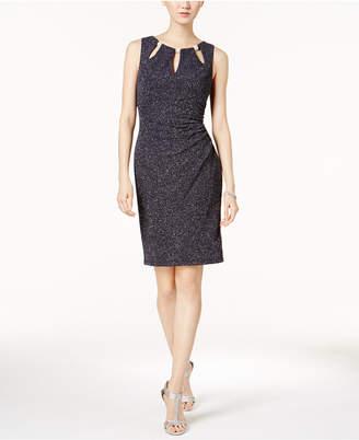 Jessica Howard Cutout Glitter Sheath Dress