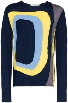 Comme des Garcons Panel knit wool sweatshirt